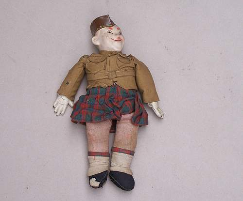 Toy Scottish soldier
