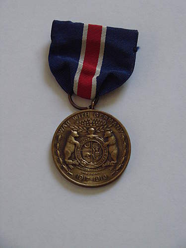 WWI Missouri War With Germany Medal