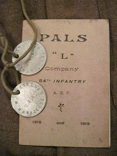 WWI 6th Div 54th Infantry US Grouping