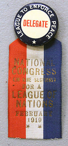 League of Nations Delegate Pin 1919