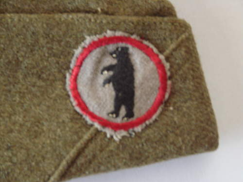 WWI US over seas hat patch?