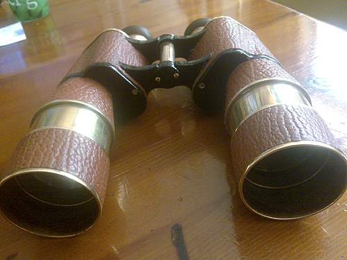 Named and researched Navy Binocular grounddig Argonne woods