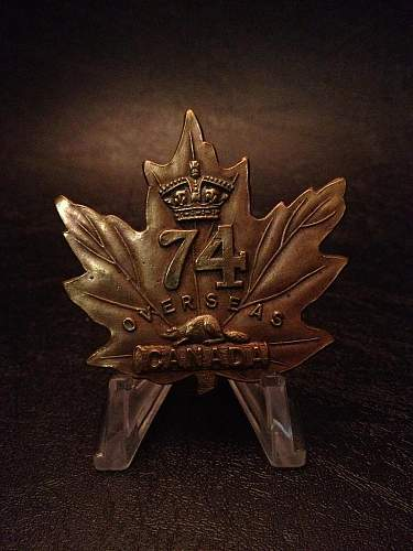 Click image for larger version.  Name:Canada - 74th Infantry Battallion.jpg Views:56 Size:85.9 KB ID:399378