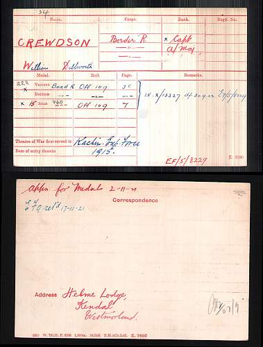 WW1 British Army Captain research help. 4th Battalion The Border Regt