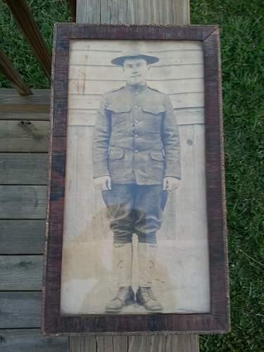 WW1 photo on cloth ???????