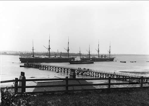 Click image for larger version.  Name:HMS Ganges training ships. HMS Minotaur on the left.jpg Views:149 Size:98.6 KB ID:441771