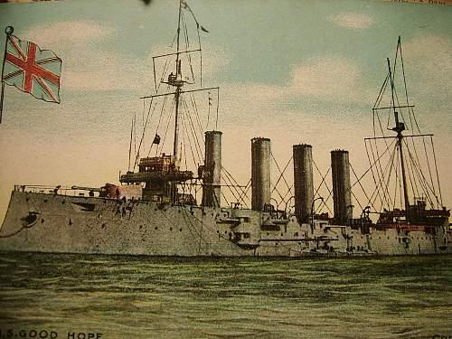 Click image for larger version.  Name:HMS Good Hope Vintage Postcard.jpg Views:528 Size:230.4 KB ID:441773