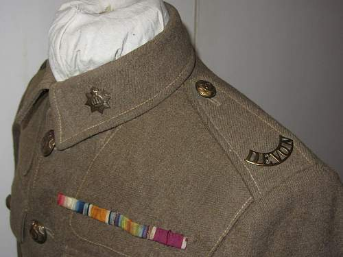 Devonshire regt ww1 veteran sergeant 1922 modified 02 tunic