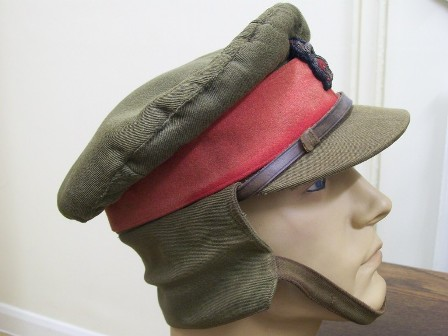 Ww1 style british army staff officers service dress cap