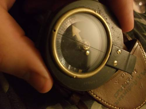 WW1 compass, case and strap. 1916.