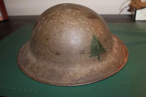 WW1 Doughboy M1917 Helmet - WWI 91st Div. (Pine Tree Division)