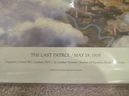 The last patrol /may 19, 1918 signed print