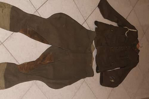 Warwickshire regiment complete uniform, pattern 1918? need help about it!