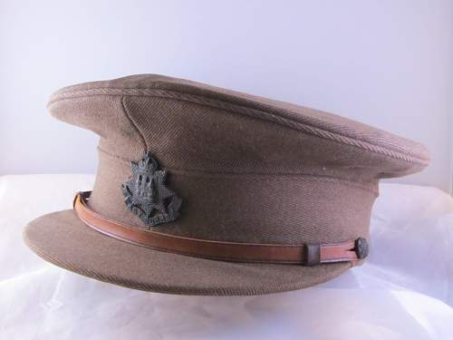 Ww1 dated east surreys regt officers service dress cap