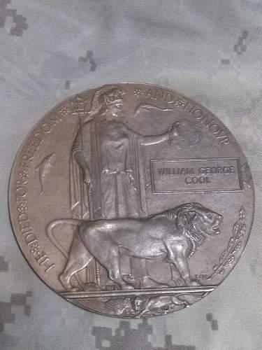 CEF Memorial Plaque - Death Penny