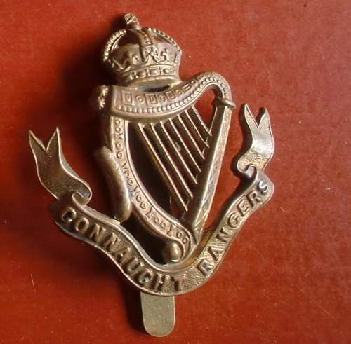 Connaught Rangers cap badge