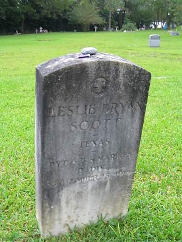 Private Leslie Bryan Scott, 6th. Marines, 2nd Div., WW I volunteer hero of my hometown