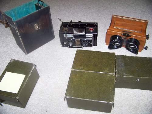 Verdun glass slides and equipment