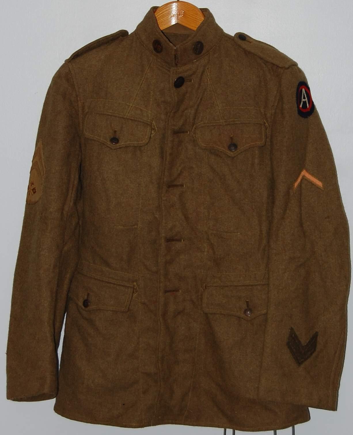 Wwi Army Uniform 104