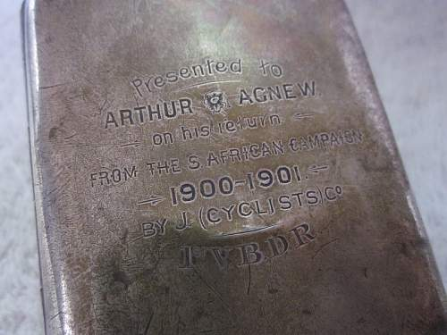 Cigarette Case presented to a Veteran of the Boer War