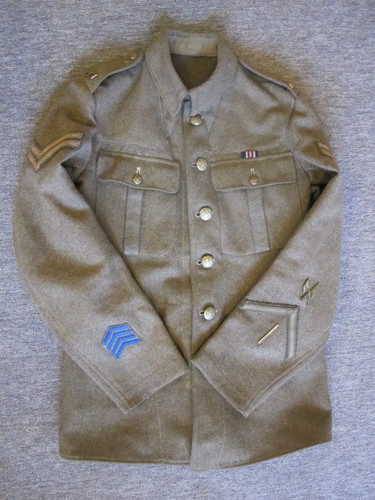 WWI British tunic for sale.
