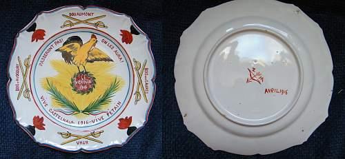 Verdun 1916 Commemorative plate