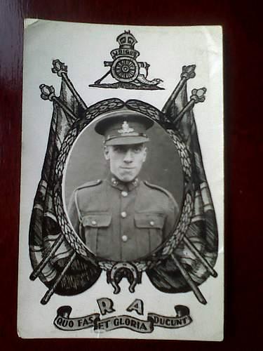 Click image for larger version.  Name:Great Uncle Arthur Pyatt, Royal artillery WW1.jpg Views:163 Size:180.7 KB ID:497252