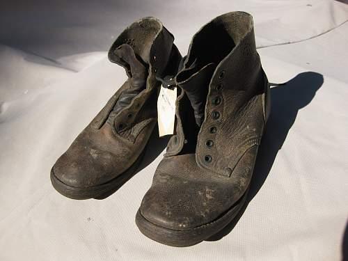 WWI Britsh boots