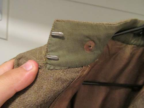 U.S. WWI Wool Tunic (and a really cool fork)