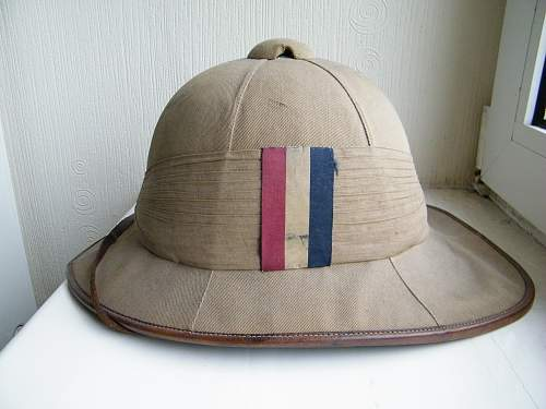 S' Lancs officers Wolseley pith helmet 1916/17
