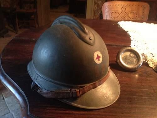 great-grandfather WW1 helmet