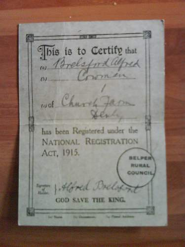 1916 Conscription Tribunal Cards