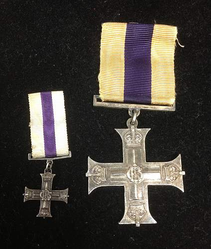WWI British Military Cross & Miniature Named to 20th Canadian Captian