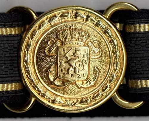 Dutch marine officers  belt buckel die.