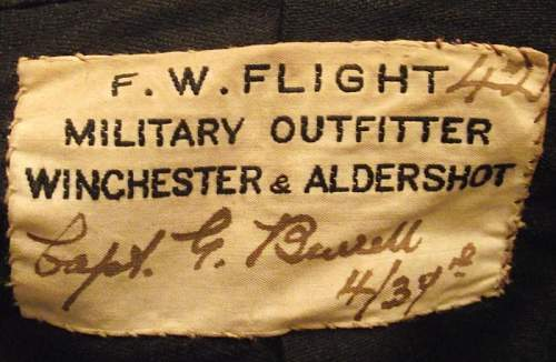 4th Hampshire Battalion named MC winning officers patrol jacket