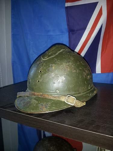 WWI Adrian style helmet!?