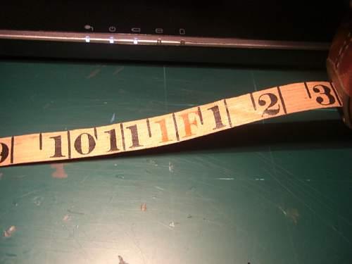 Metallic wired tape 1917 J.Rabone
