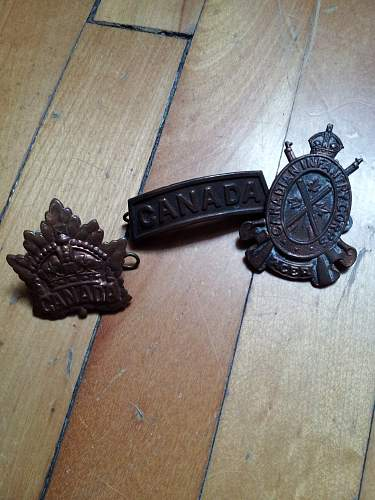 Are those Canadian WWI pins and badge?