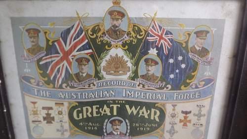 WW1 Australian Imperial Force Poster