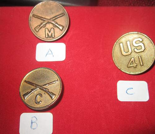 Are these WWI era collar disks?
