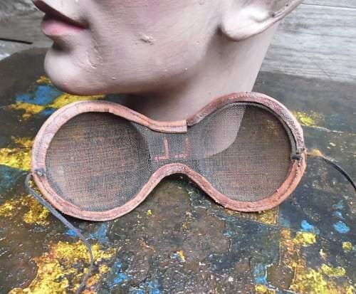 Strange eye protection