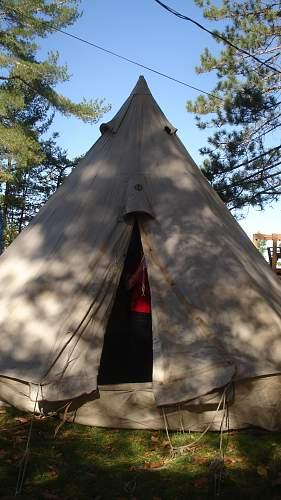 WW1 Canadian Bell Tent set up, photos