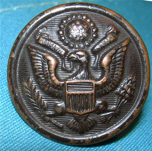 US Army tunic button with a Hidden Surprise!