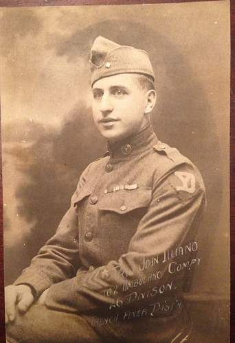 WWI US ID'ed Portrait Photo
