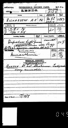 Click image for larger version.  Name:BritishArmyWWIPensionRecords1914-1920ForARRichardson.jpg Views:23 Size:221.5 KB ID:601800