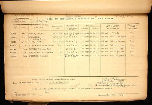 Machine Gun Corps Discharge Certificate