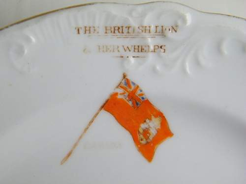 Jingoistic Boer war plate.