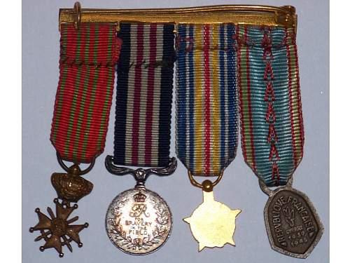 ww1-ww2 french mini medal group
