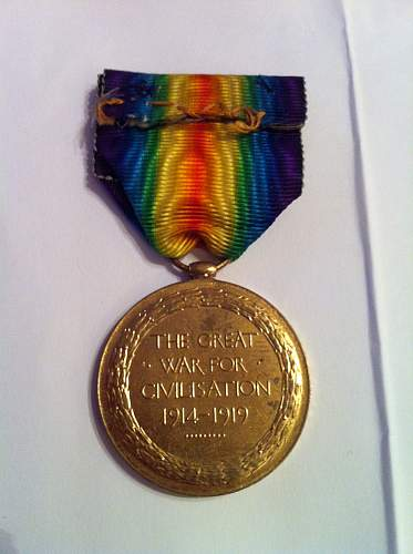 WW1 Victory Medal to R.A.M.C. Soldier.