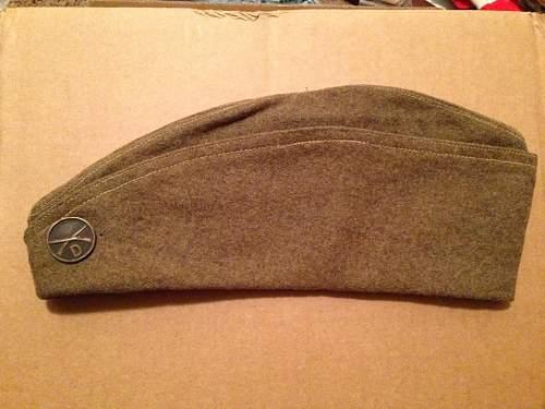 U.S. British Made Overseas Cap, 1918